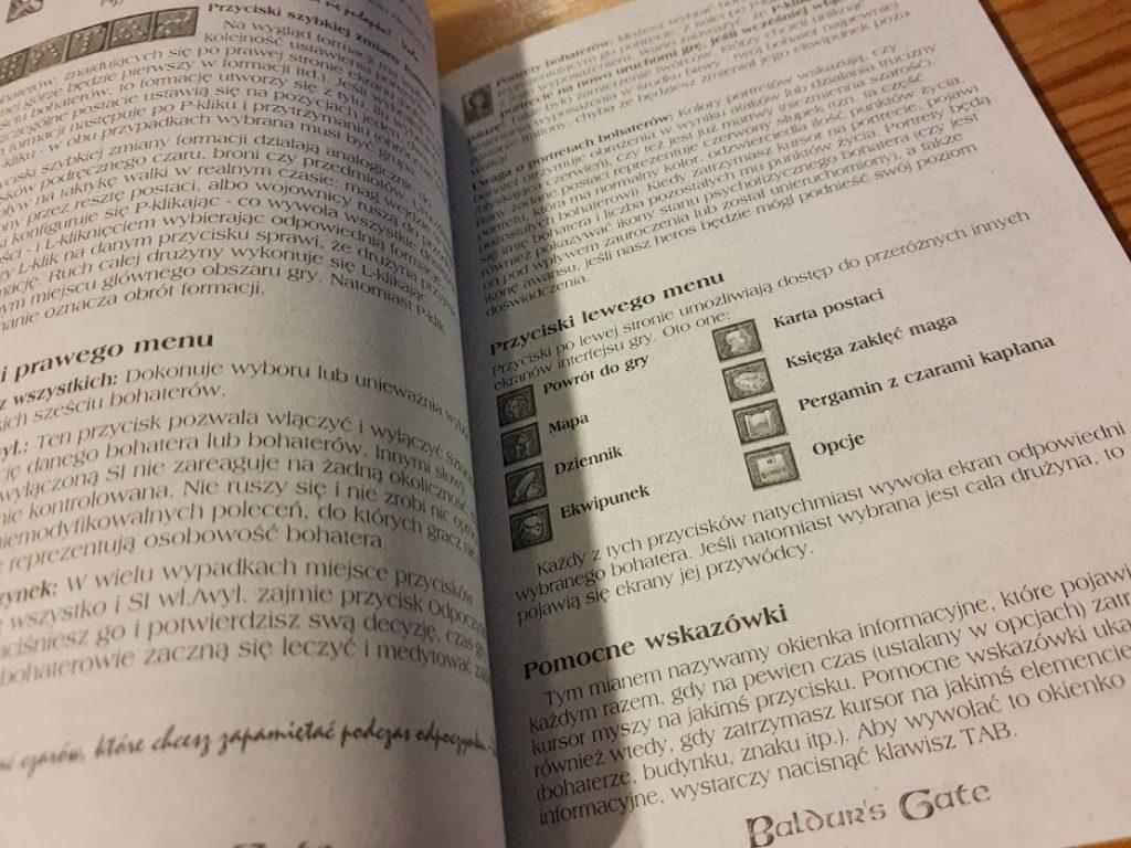 Baldur's Gate instrukcja